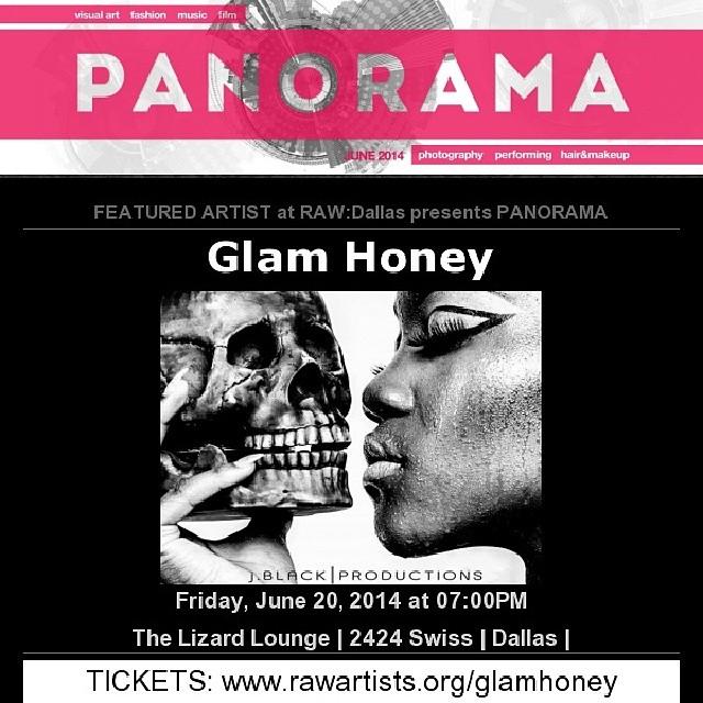 Artist on the Spotlight Glam Honey featured artist for Raw Dallas